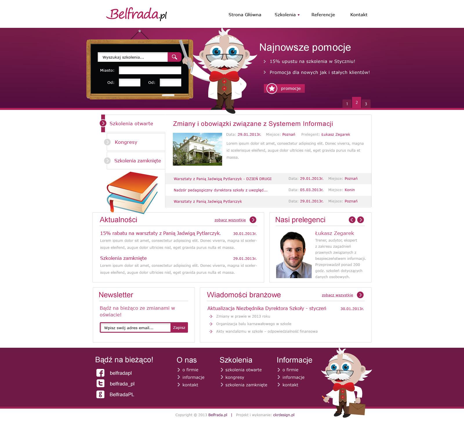 Projekt strony Belfrada