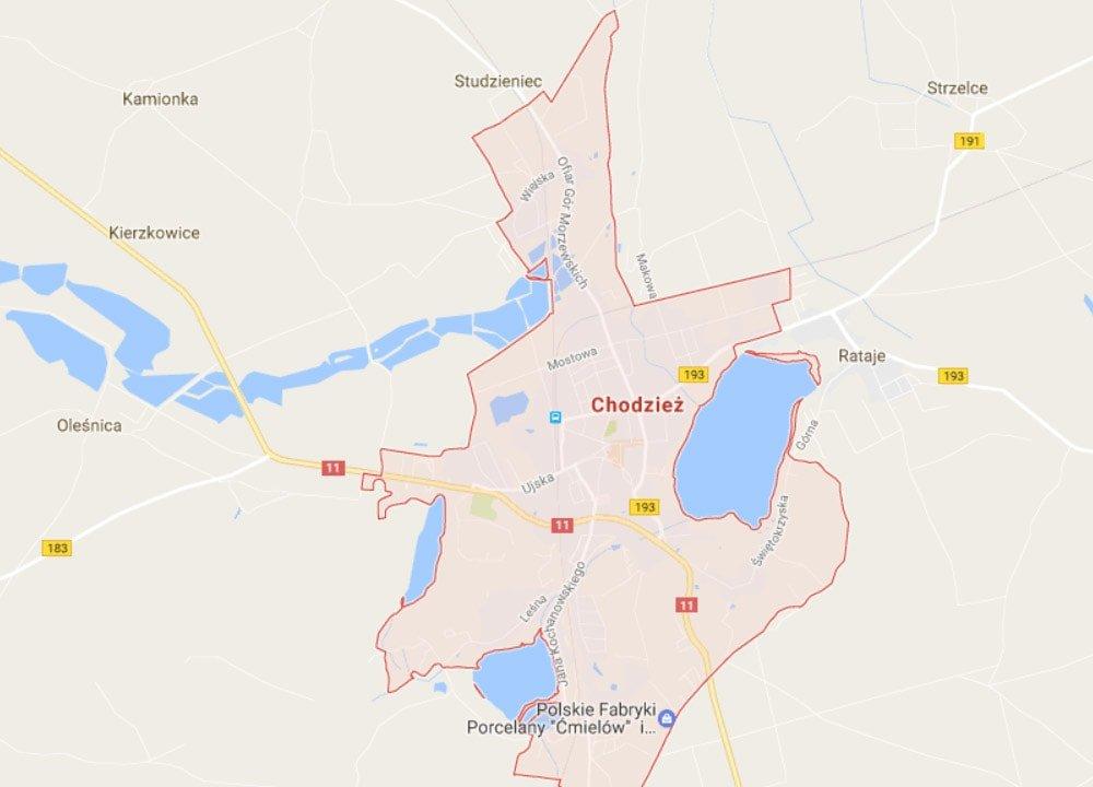 Pozycjonowanie na mapie w Chodzieży